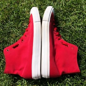 Converse Shoes - Red Chuck Taylor Converse! 👟❤️